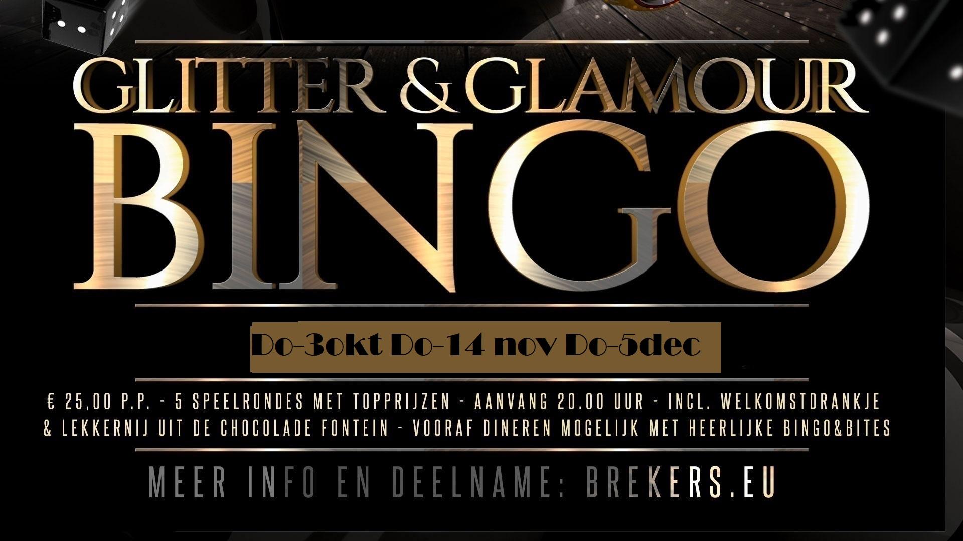Glitter & Glamour Bingo 3 oktober