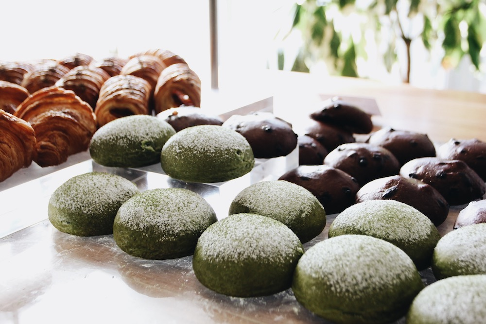 Raisin' Bakery Matcha buns