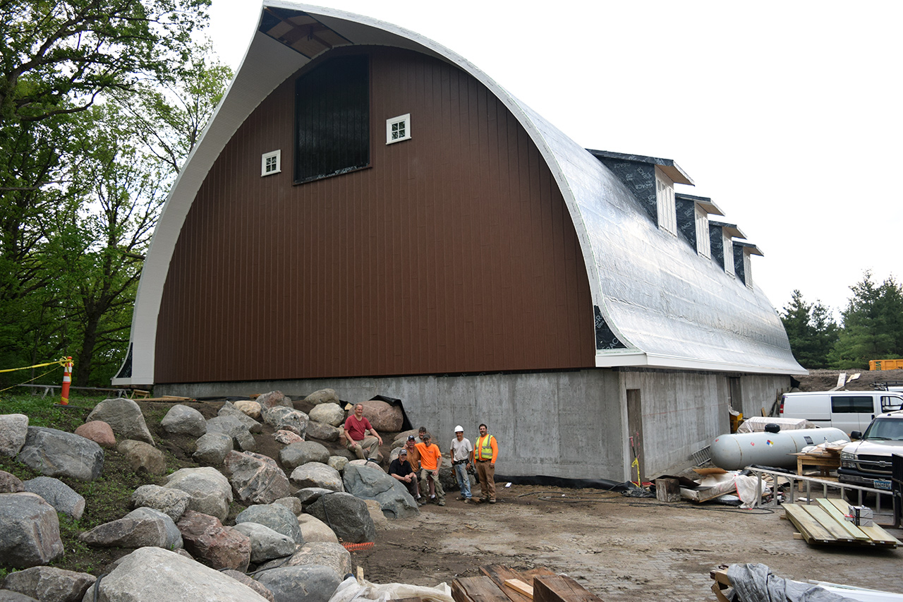 Museum designed as an old used Dairy Barn with reclaimed lumbar.