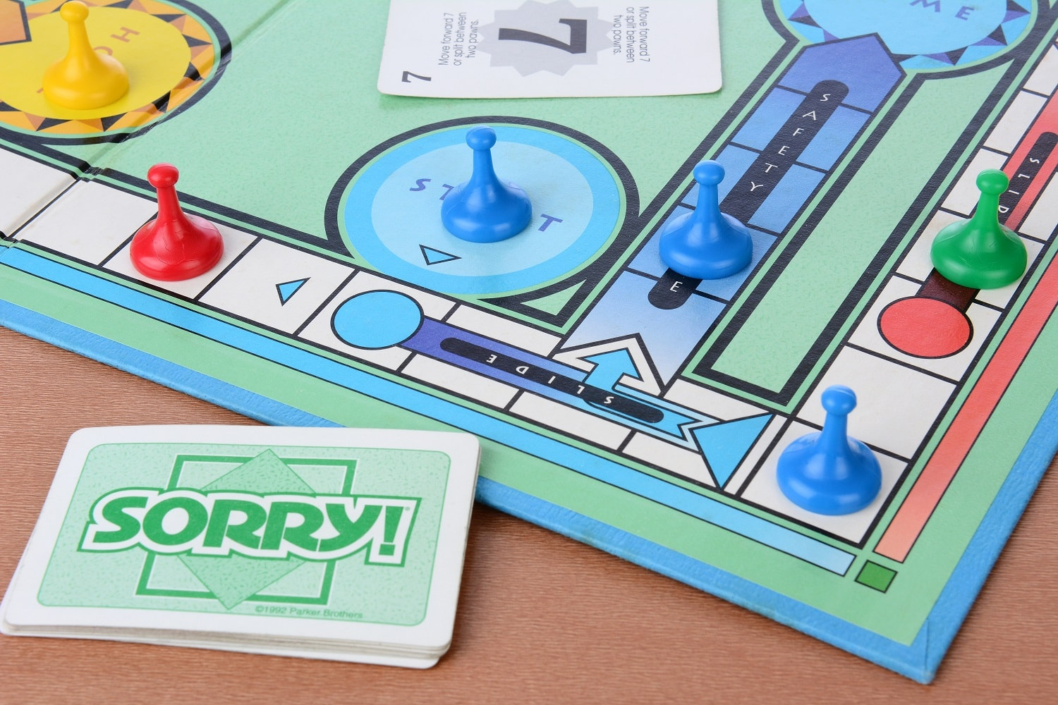 sorry game board in play