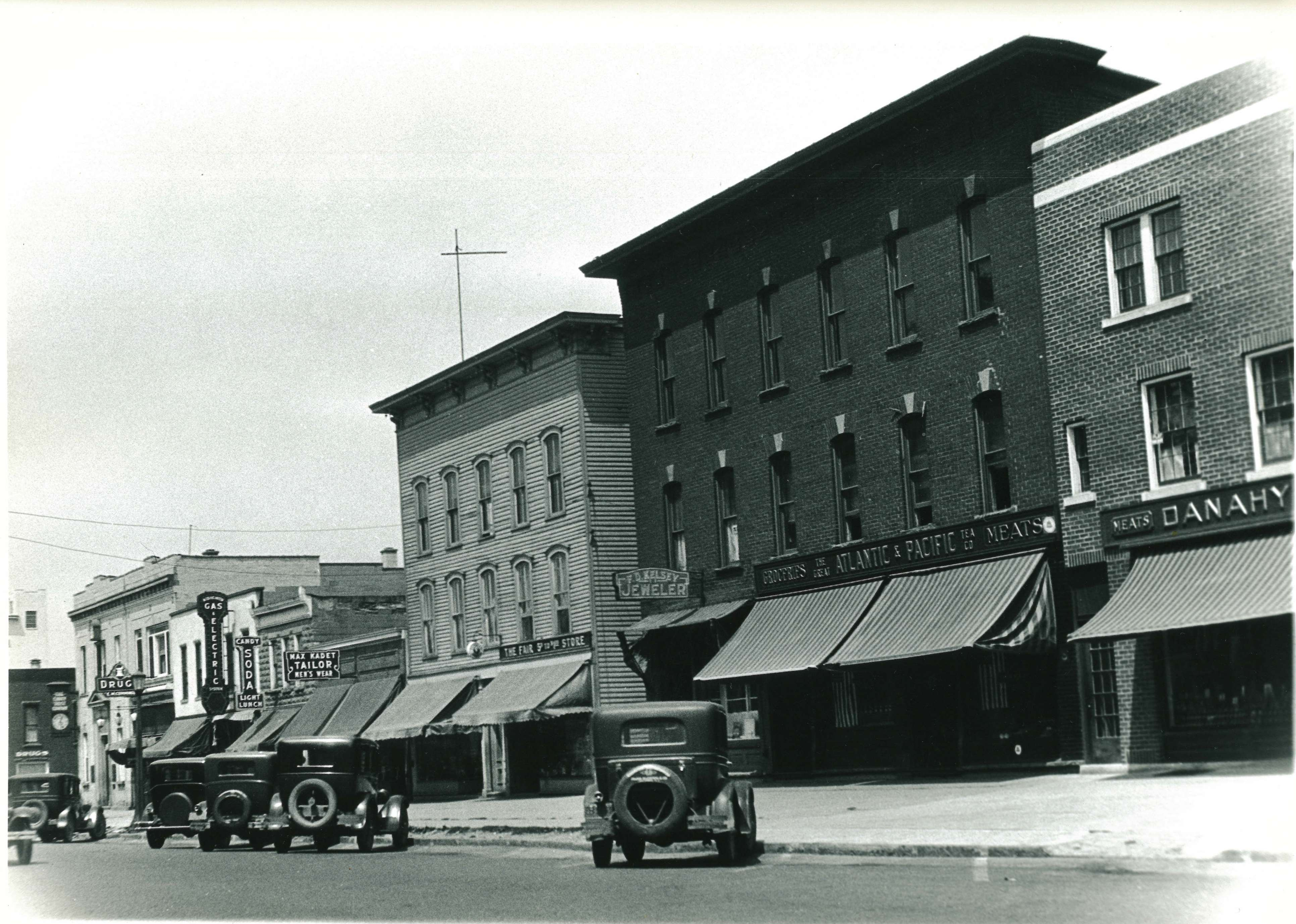 Fisher Price Toys opens in the block behind Vidler's in Sept. of 1930