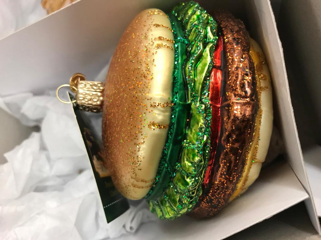Burger Ornaments