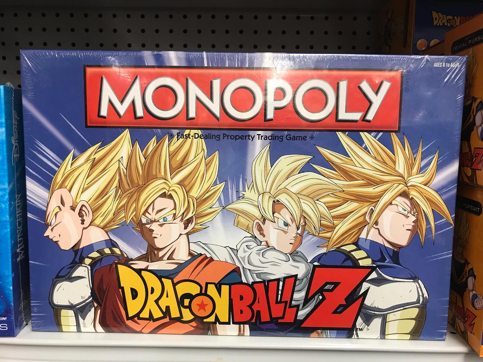 dragonball z monopoly