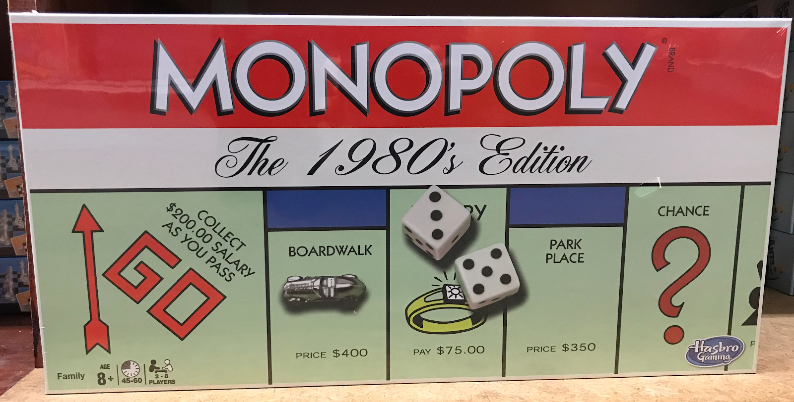 Monopoly the 1980s edition box