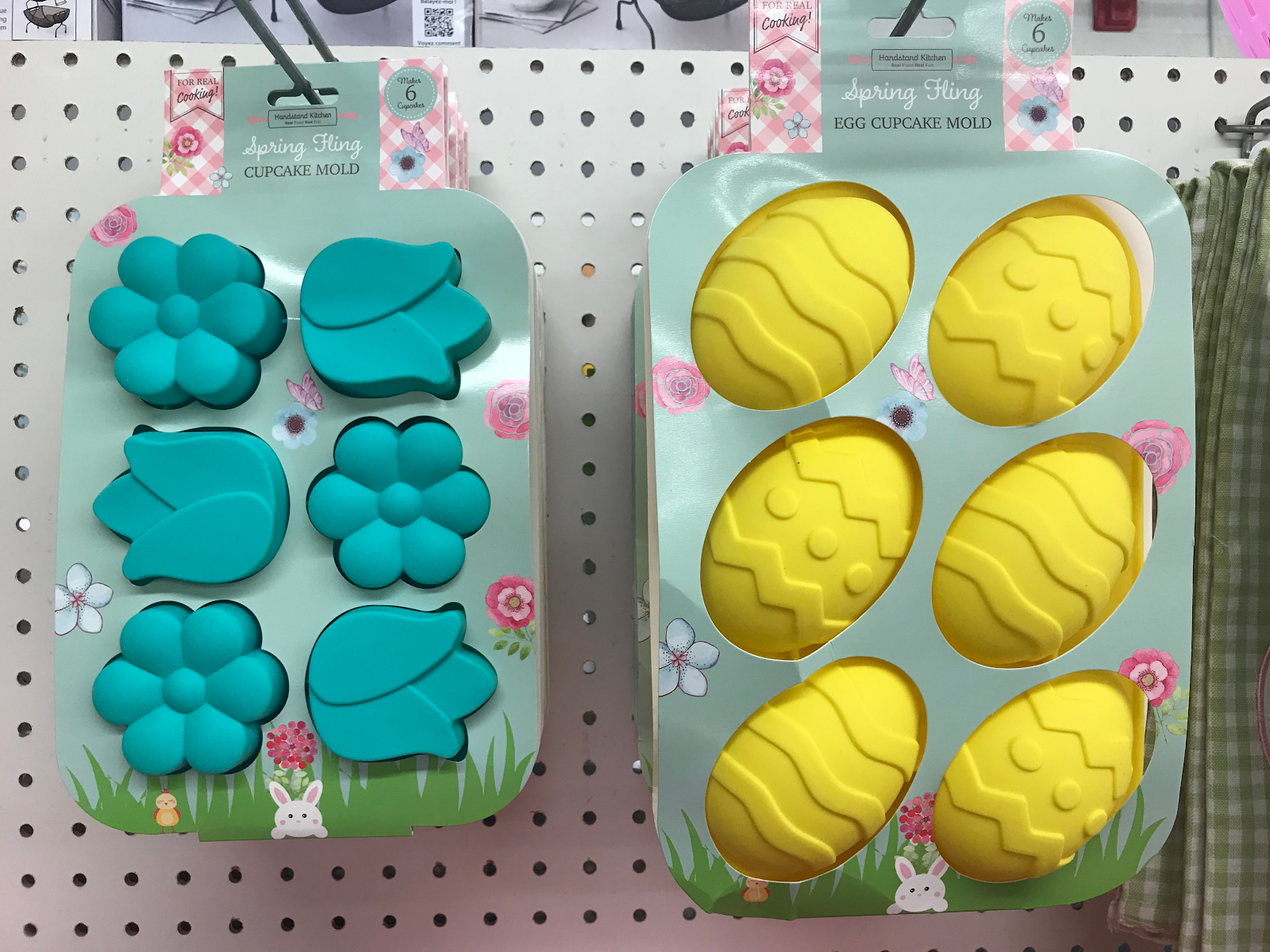 blue and yellow decorative molds
