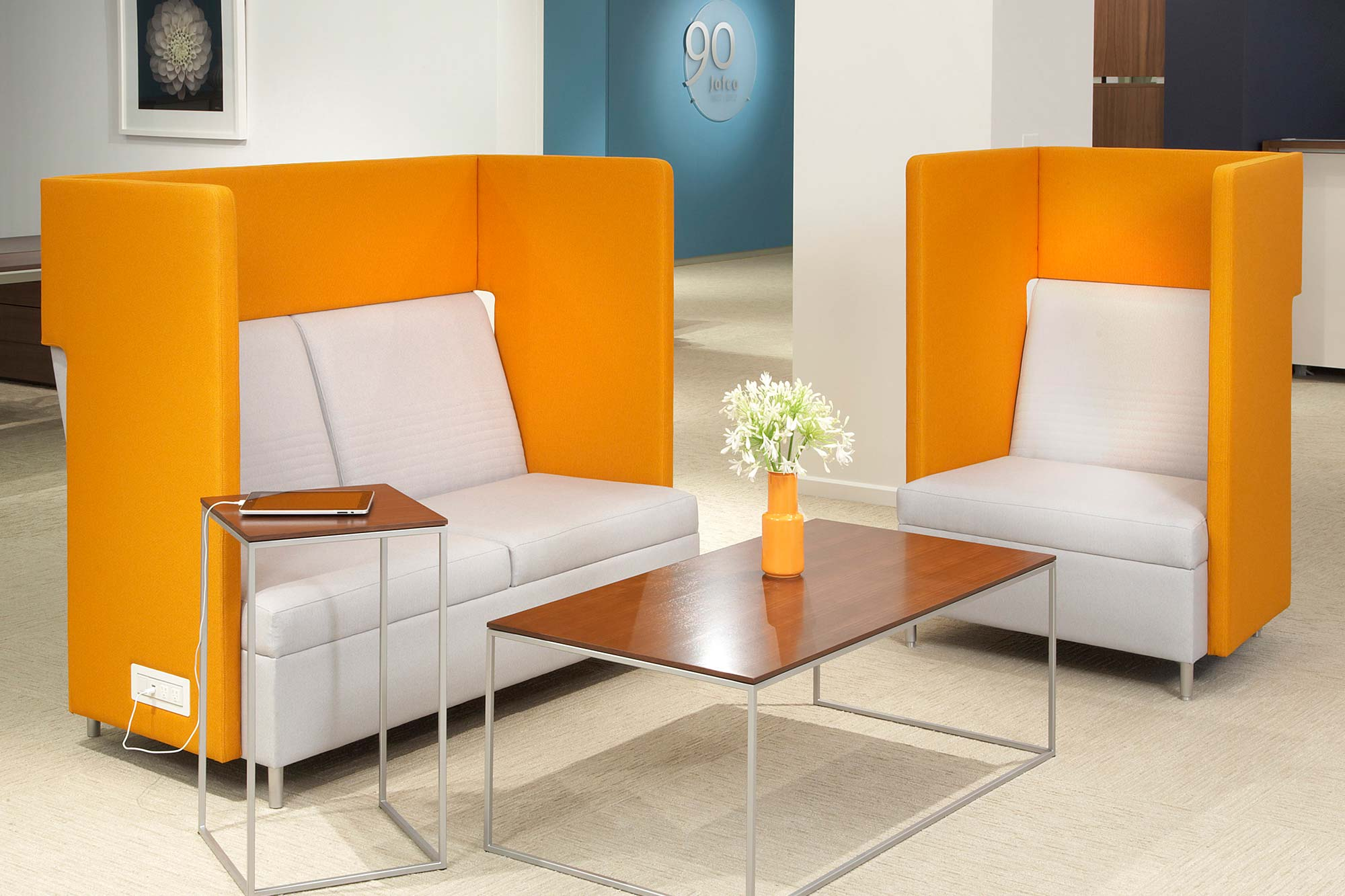 Bright colors and inventive shapes and materials help bring fun back into office furniture.