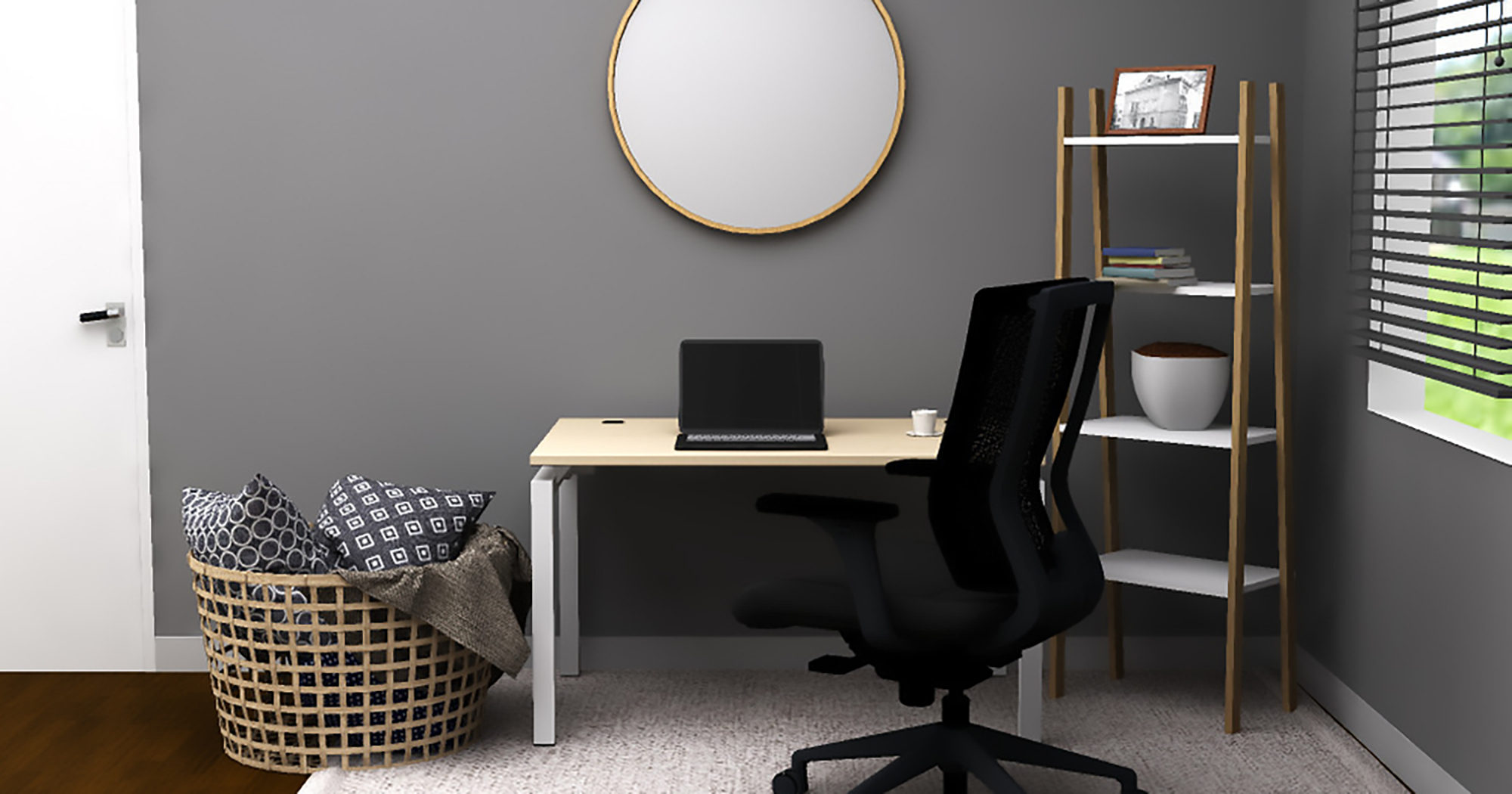 If you prefer sitting to work, the Blade table desk from Clear Design has an airy design that fits anywhere in your home.