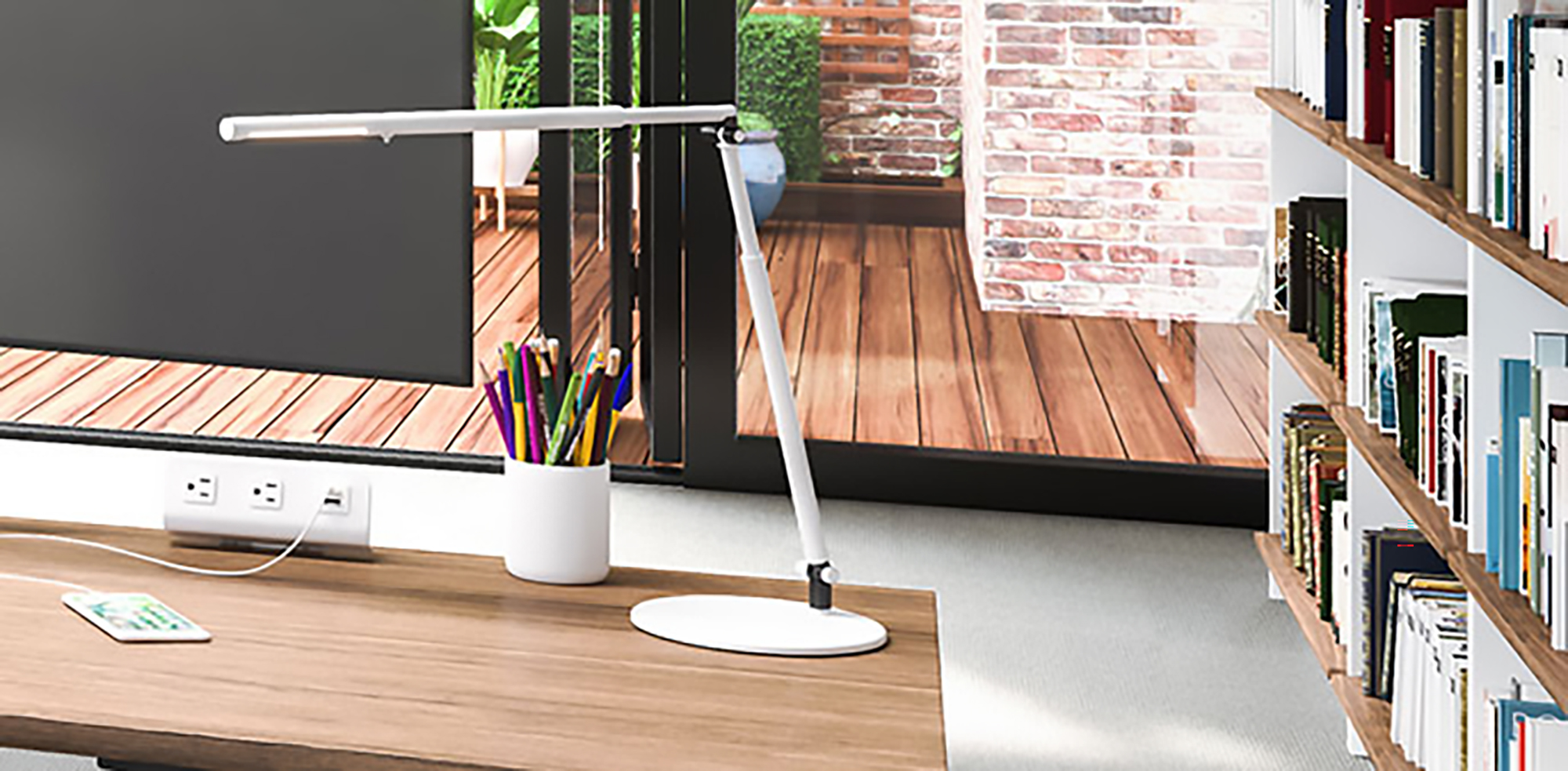Proper lighting is an essential element of any #WFH environment and this Lustre LED light from ESI will illuminate your worksurface.  Don't forget the importance of a good, ergonomic chair. Many chairs can ship partially or fully assembled direct to your door. Left one behind at the office? We can pick it up and deliver it to you.