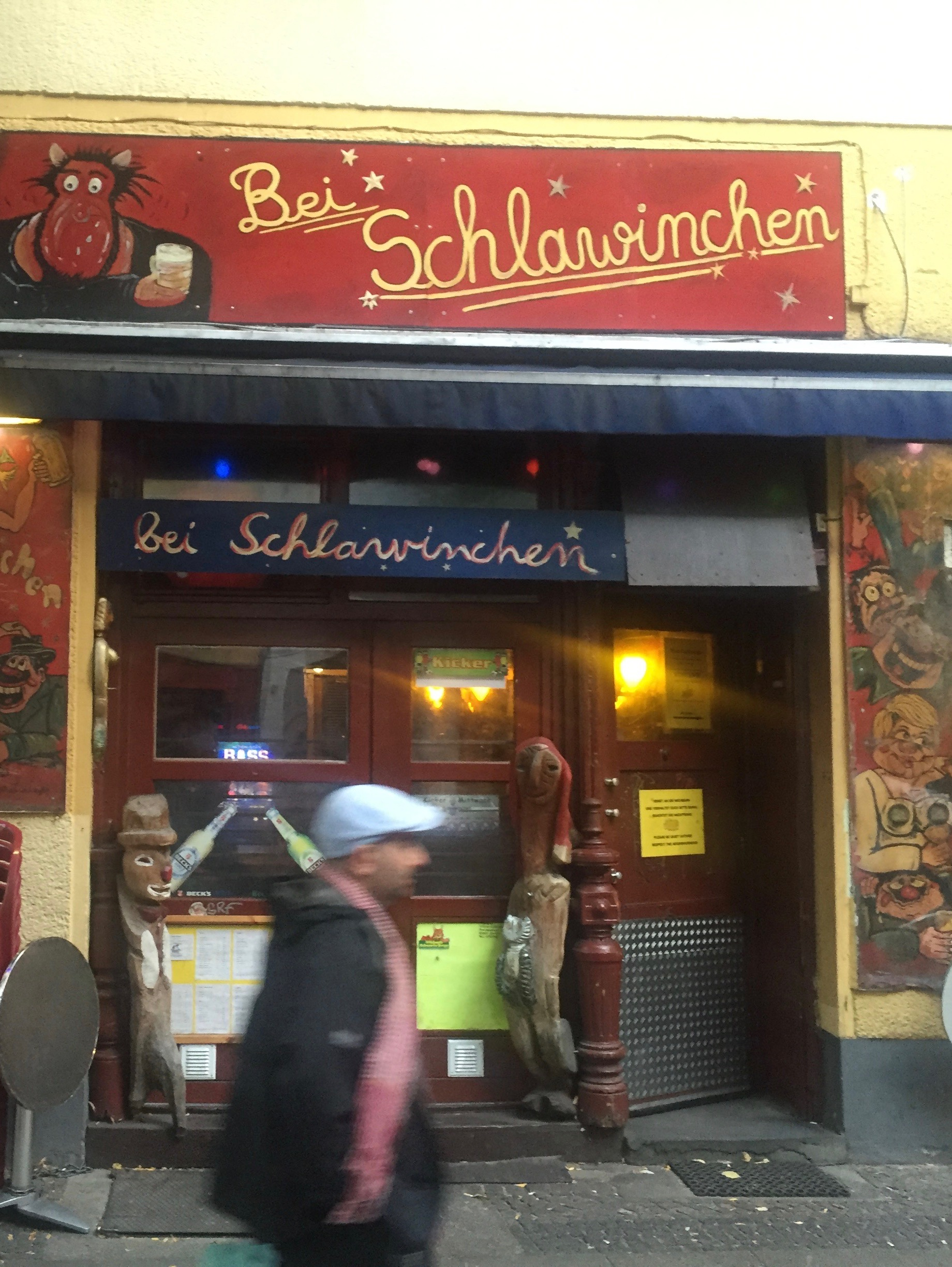 Outside Bei Schlawinchen in Berlin.