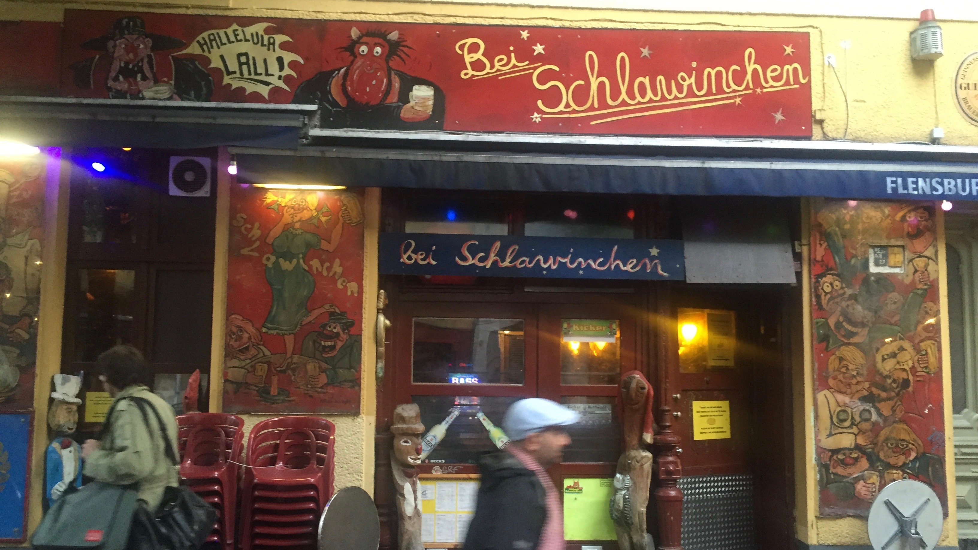 The legendary Bei Schlawinchen in Berlin.