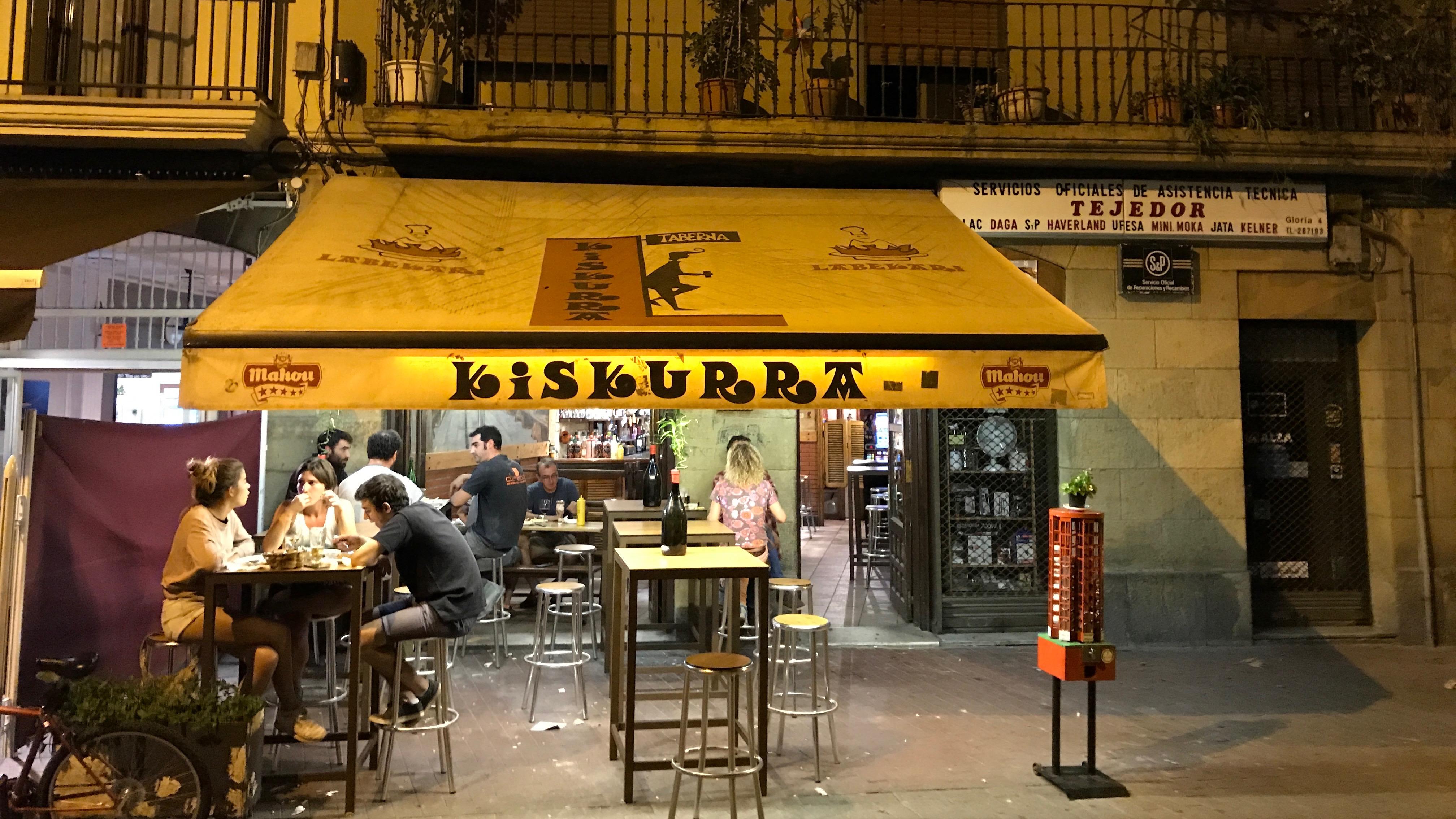 Exterior of Kixkurra Taberna 1987, San Sebastián.