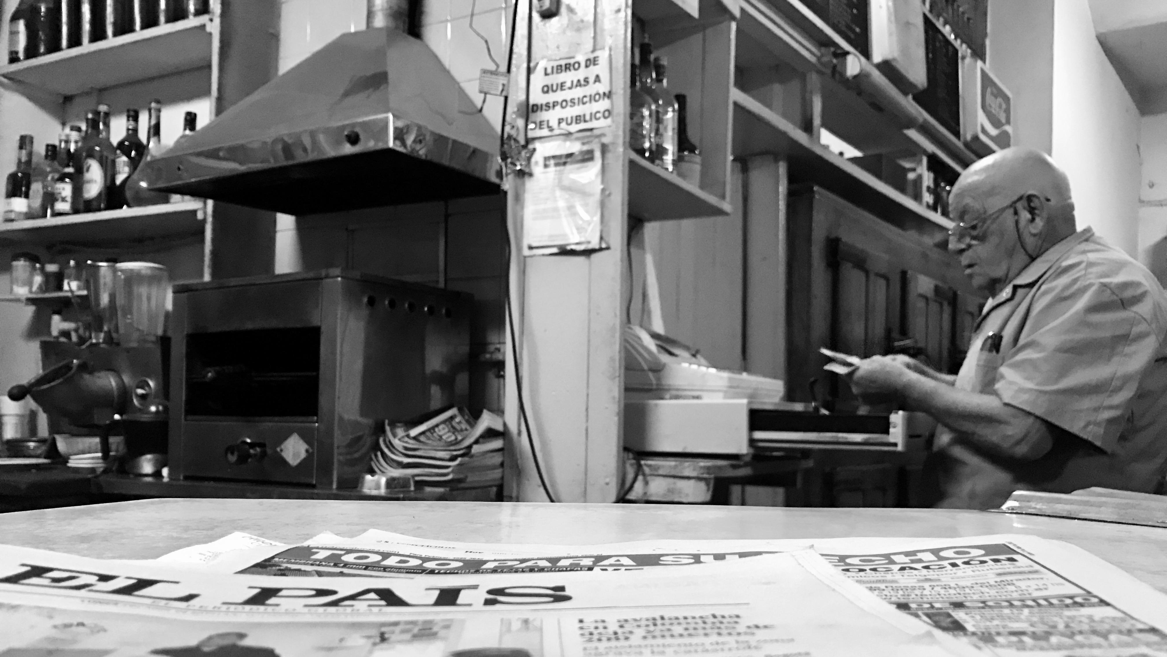 Café Roma in Buenos Aires. Owner Don Jesus Llamedo.
