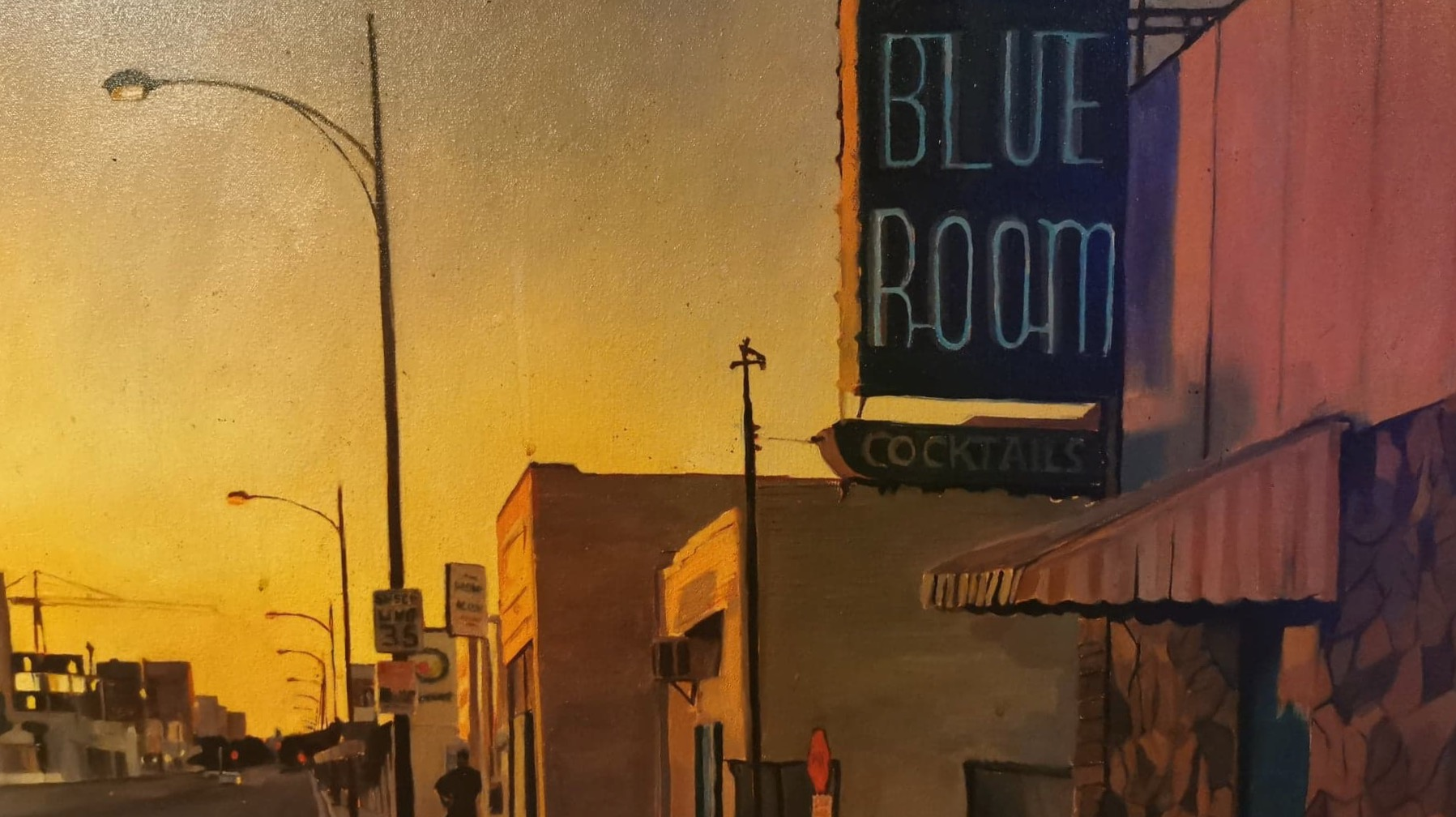 Painting of The Blue Room, Burbank.