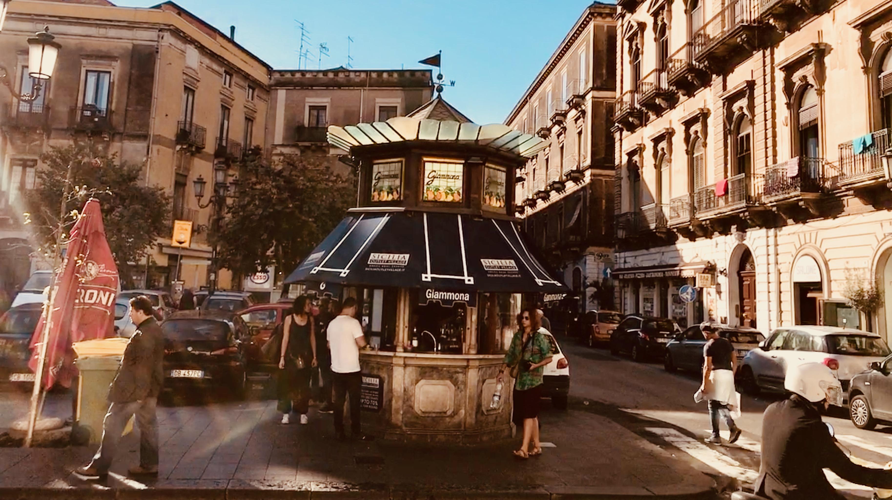 Chiosco Giammona in Catania, Sicily.