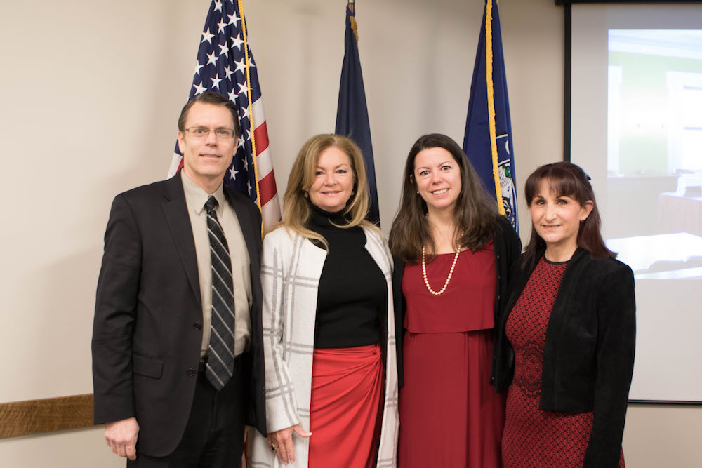 Hon. Mark C. Dillon, Hon. Mary Ellen O'Dell, Putnam County Executive, Hon.Christi Acker, President Putnam County Bar Association, Bonnie Feinzig,past president, Putnam County Bar Association.