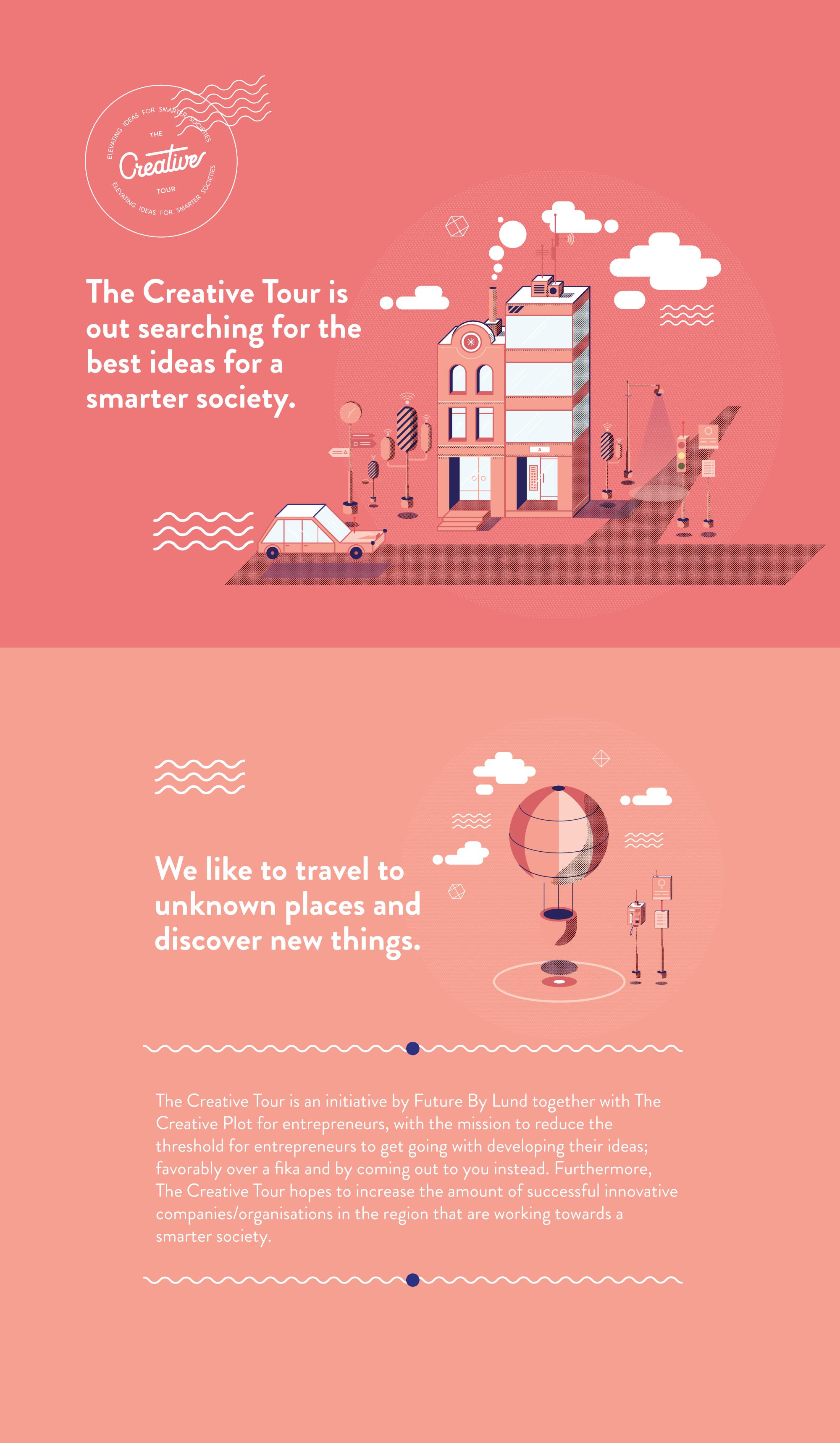 The Creative Tour illustrationer och grafisk formgivning