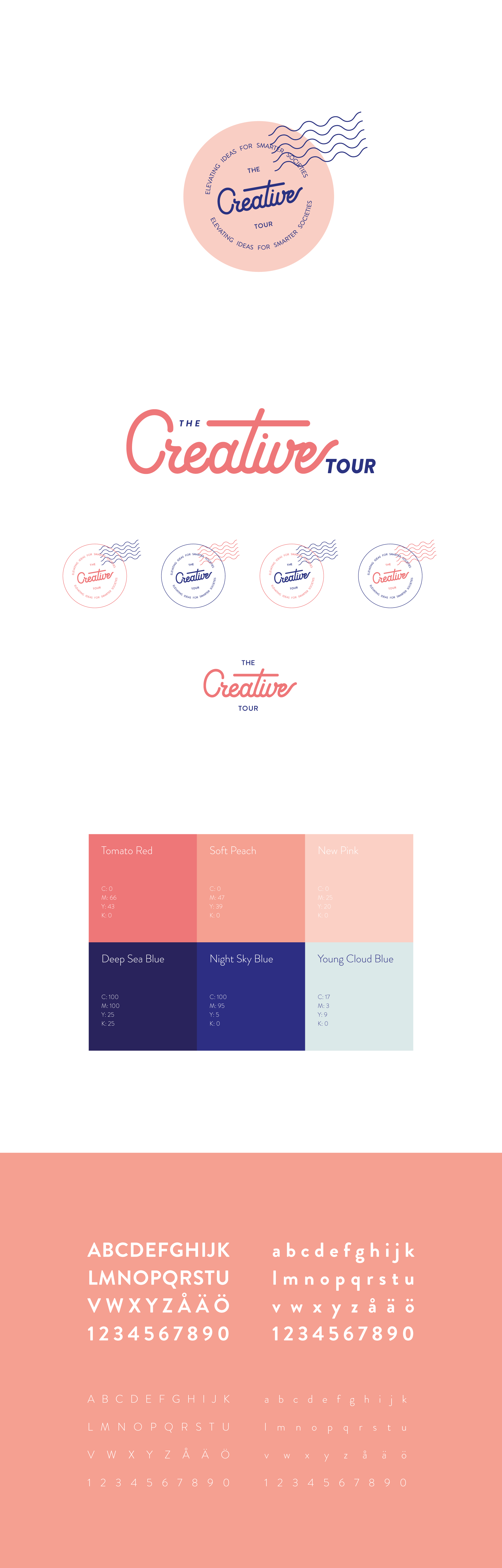 The Creative Tour grafiska profil och logotyp
