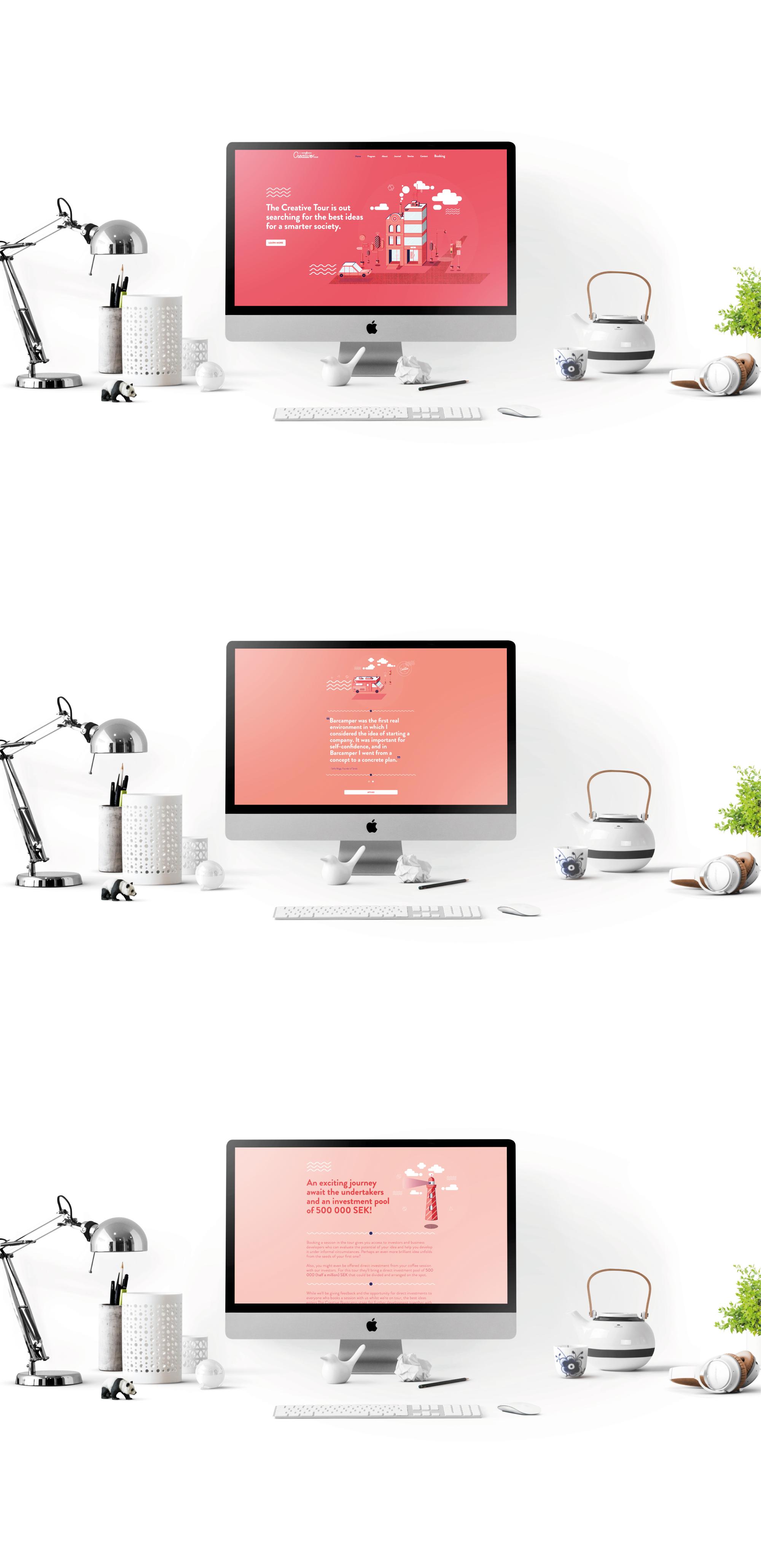 The Creative Tour hemsida och webbdesign