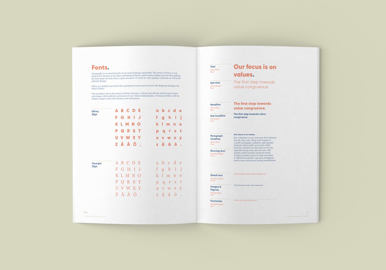 Point of Value grafiska profil och manual - Typsnitt och typografi