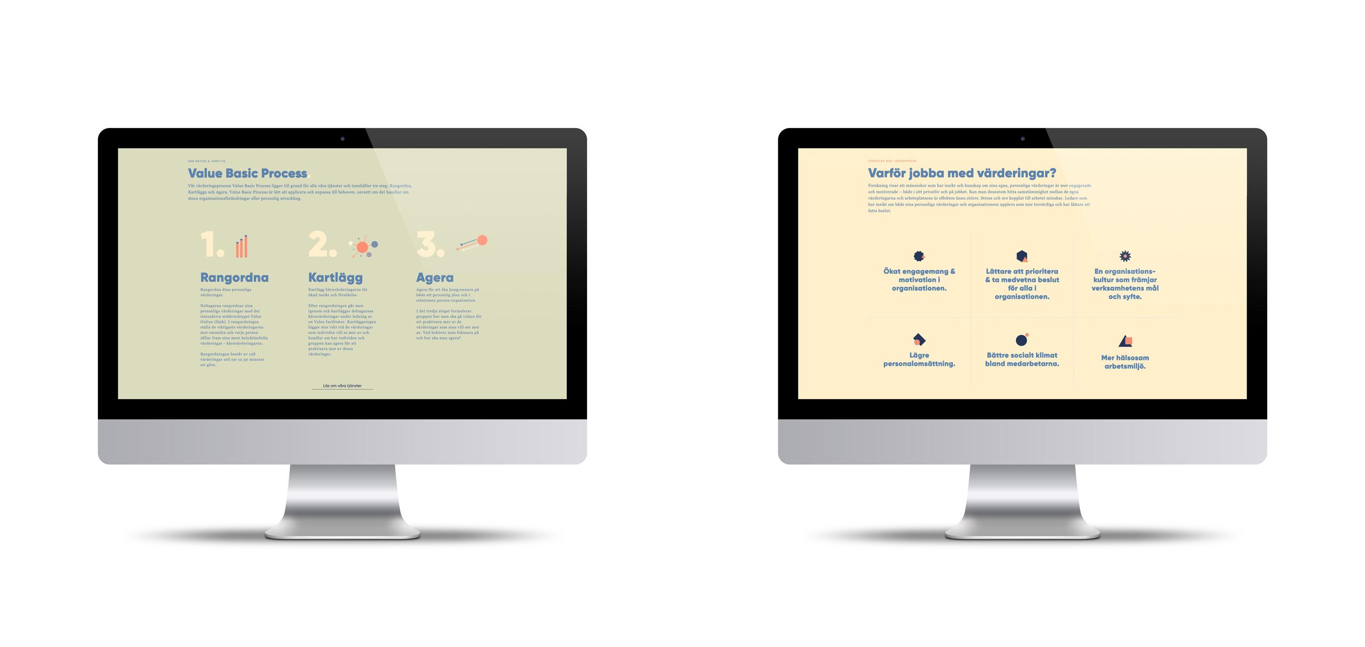 Point of Value grafiska hemsida och webbdesign
