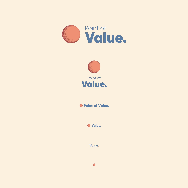 Point of Value logotyp anatomi