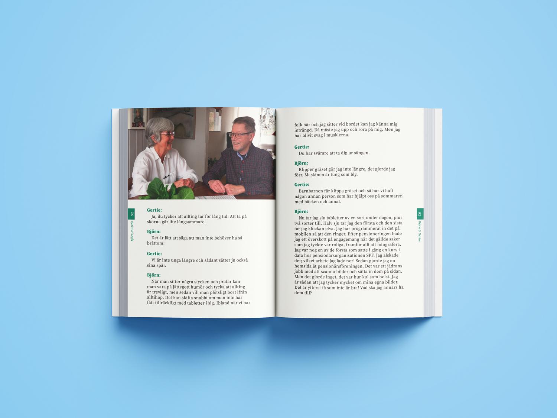Projekt Livs bok Lugnt inre välmående - Berättelse uppslag