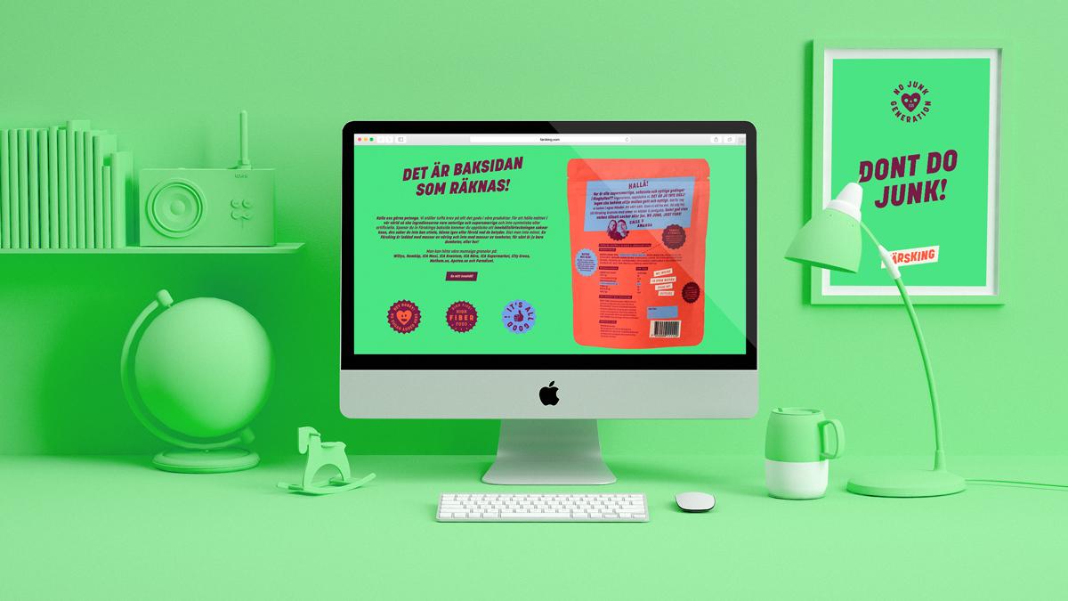 Färsking webbdesign och hemsida