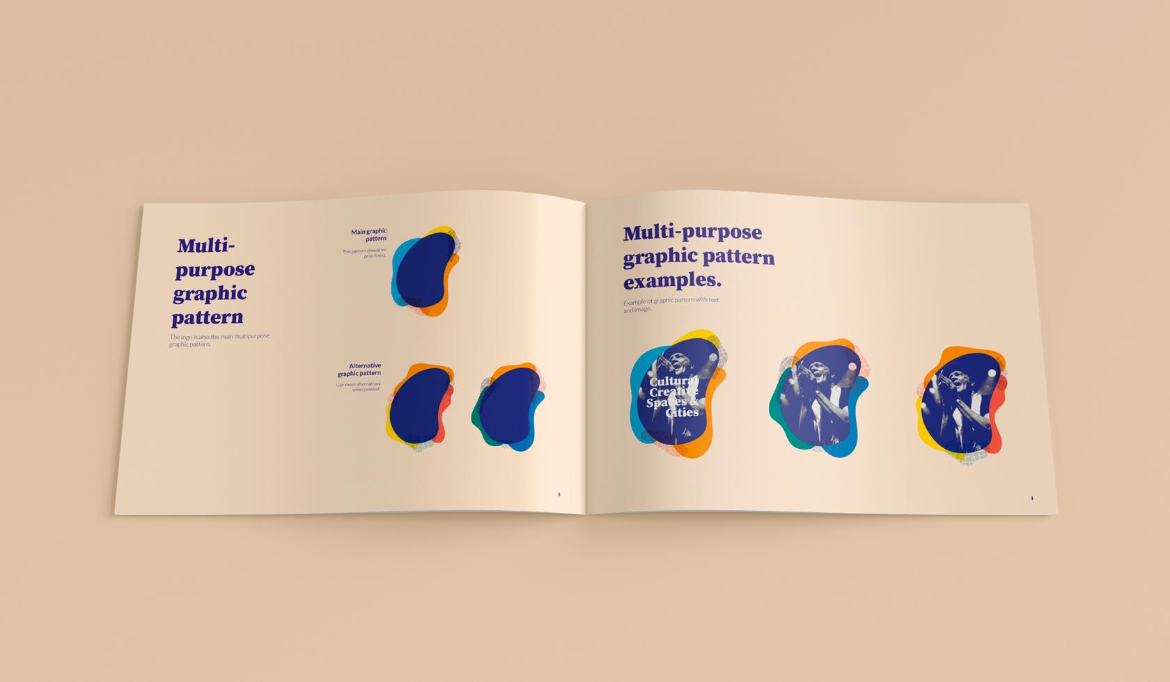Cultural Creative Spaces & Cities grafiska profil och manual - Grafiska element