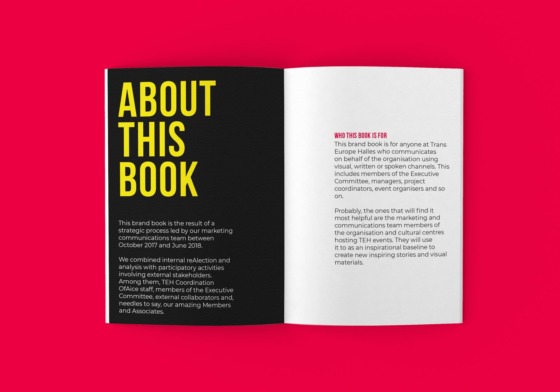 Trans Europe Halles varumärkes profil och manual