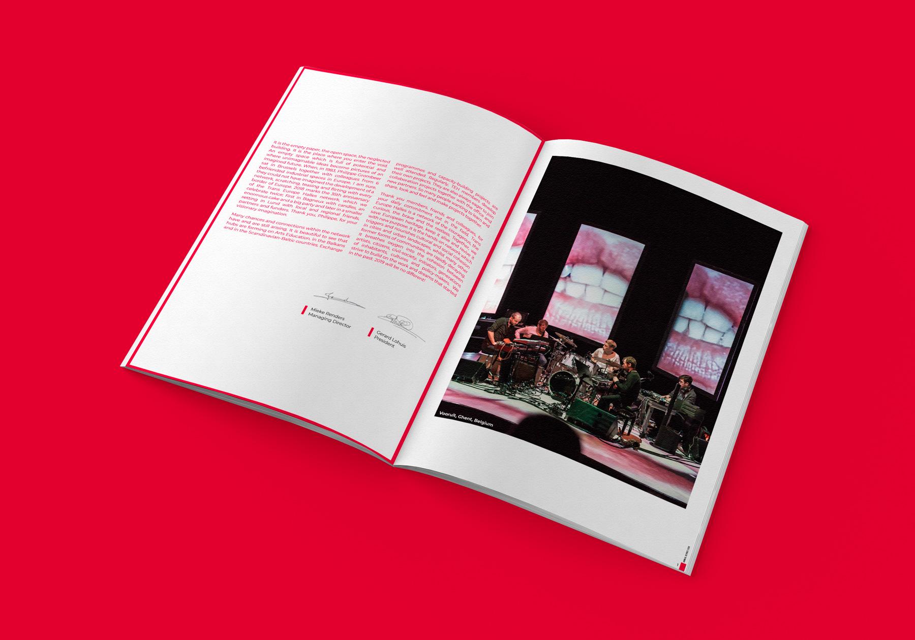 Uppslag från Trans Europe Halles årsrapport