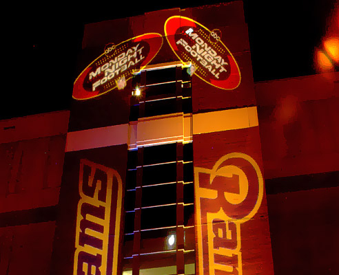 STL Rams Architectural lighting