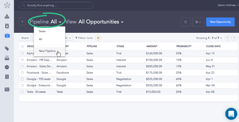 First things first, you'll want to click on the Propeller drop-down menu and choose New Pipeline