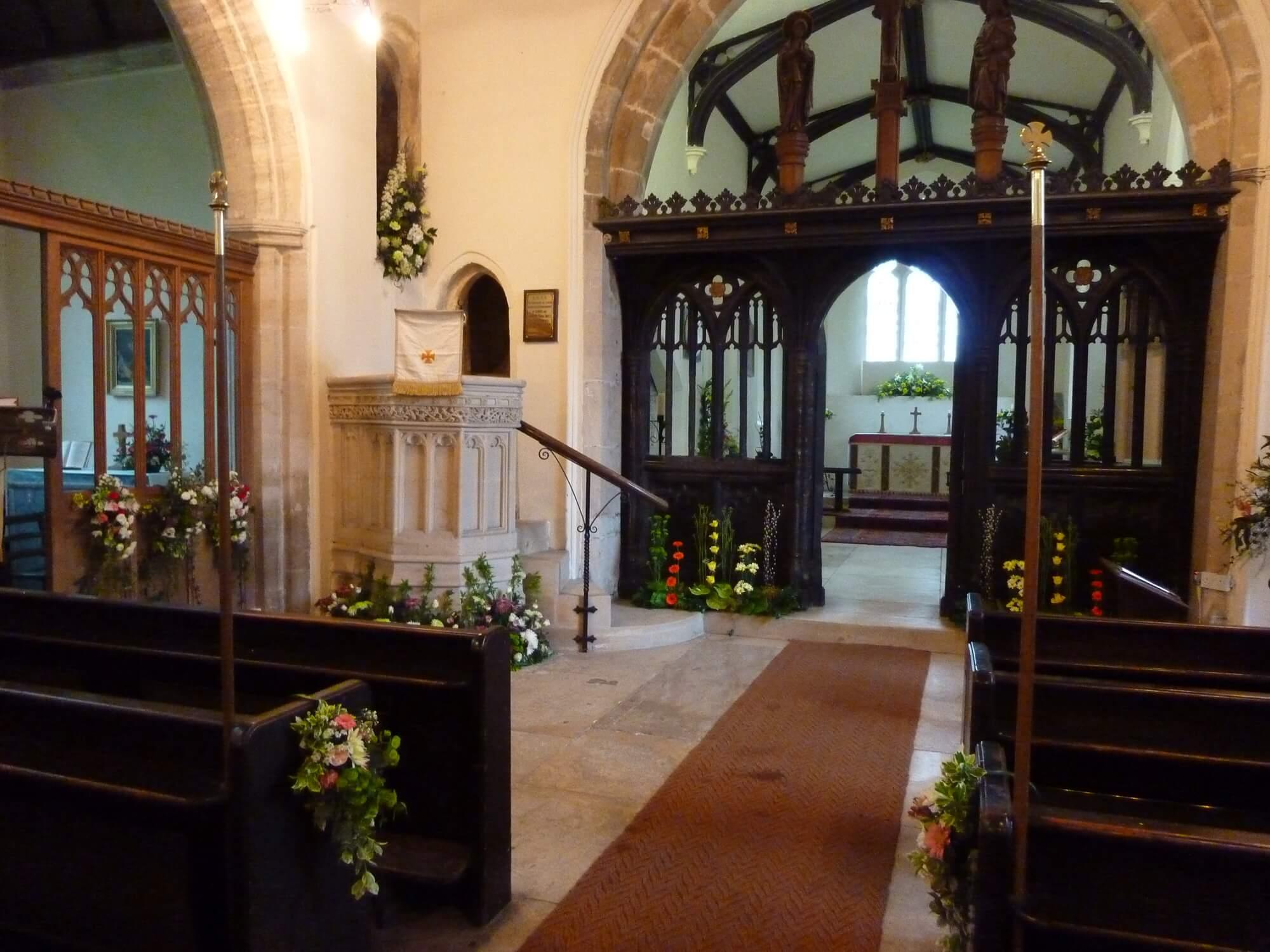 St Mary's Church Beverston - The Chancel