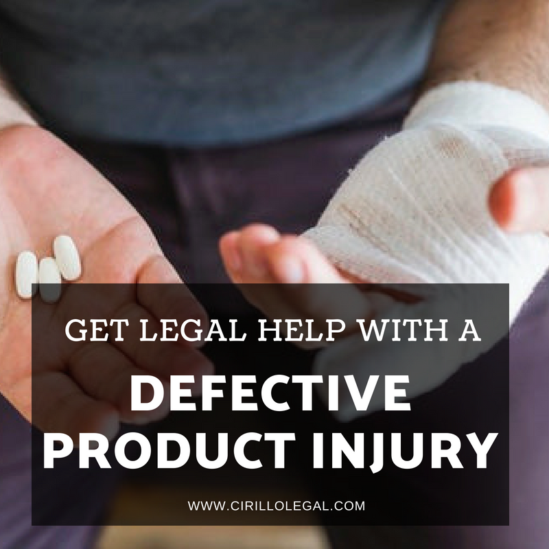Get Legal Help with a Defective Product Injury