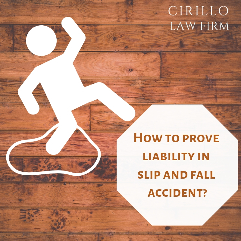 Who is liable for a slip and fall accident?