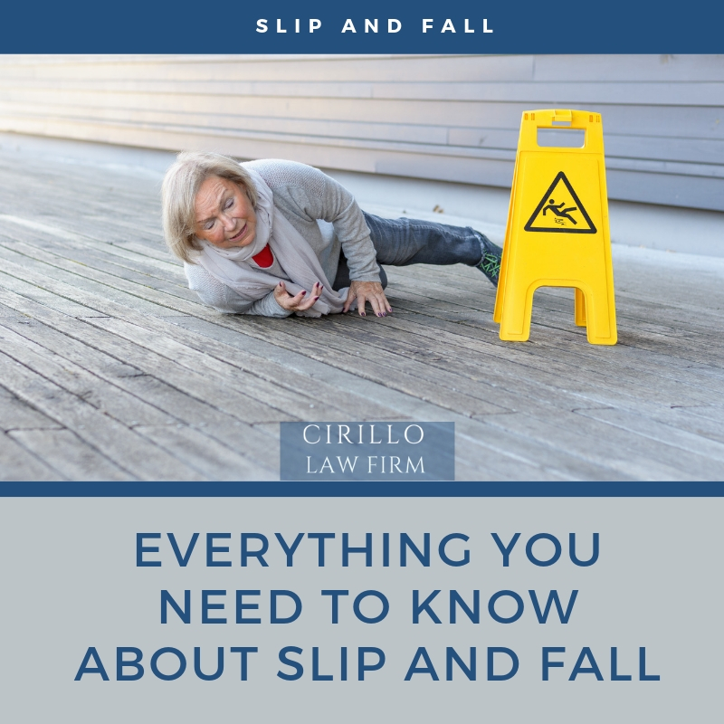 Everything you must know about slip and fall accidents