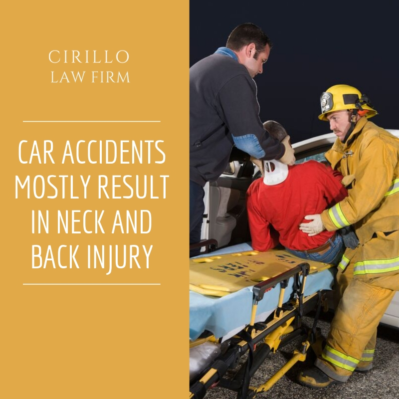 Car Accidents mostly result in Neck and Back Injury