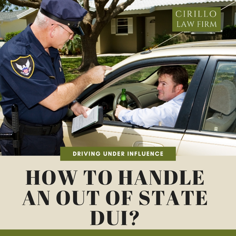 How to handle an out of state DUI