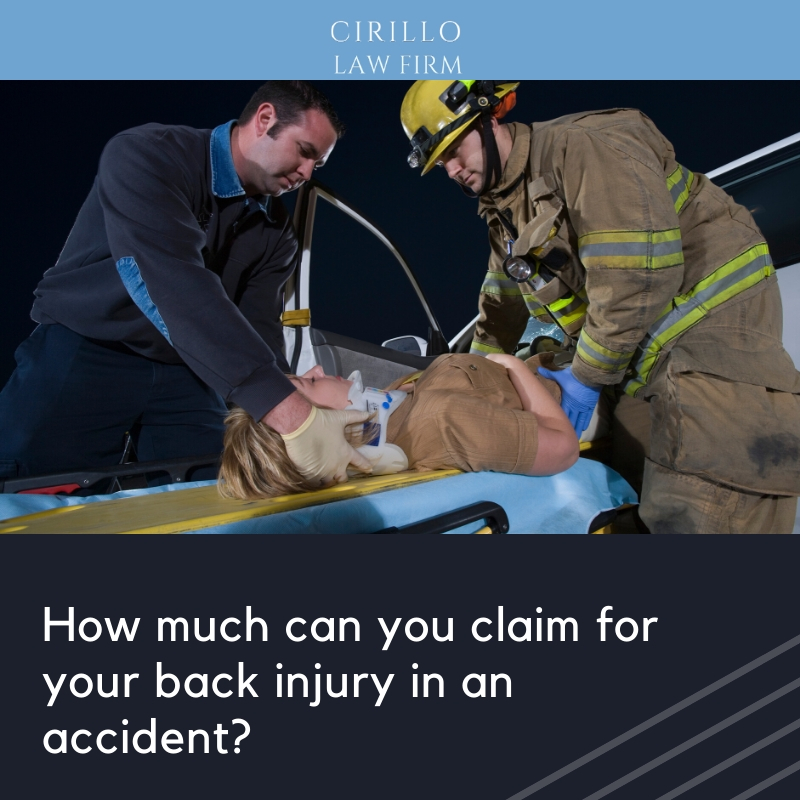 How much can you claim for your back injury in an accident