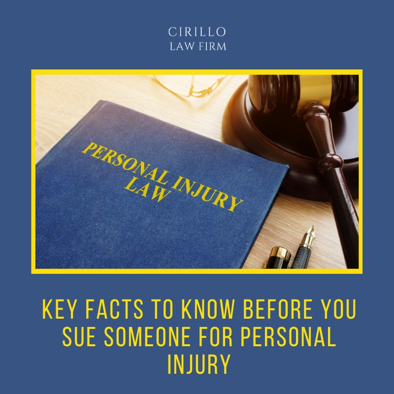 Key facts to know before you sue someone for Personal Injury