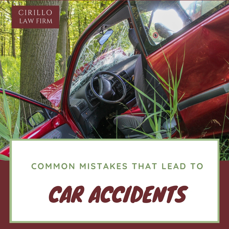 Common mistakes that lead to a car accident