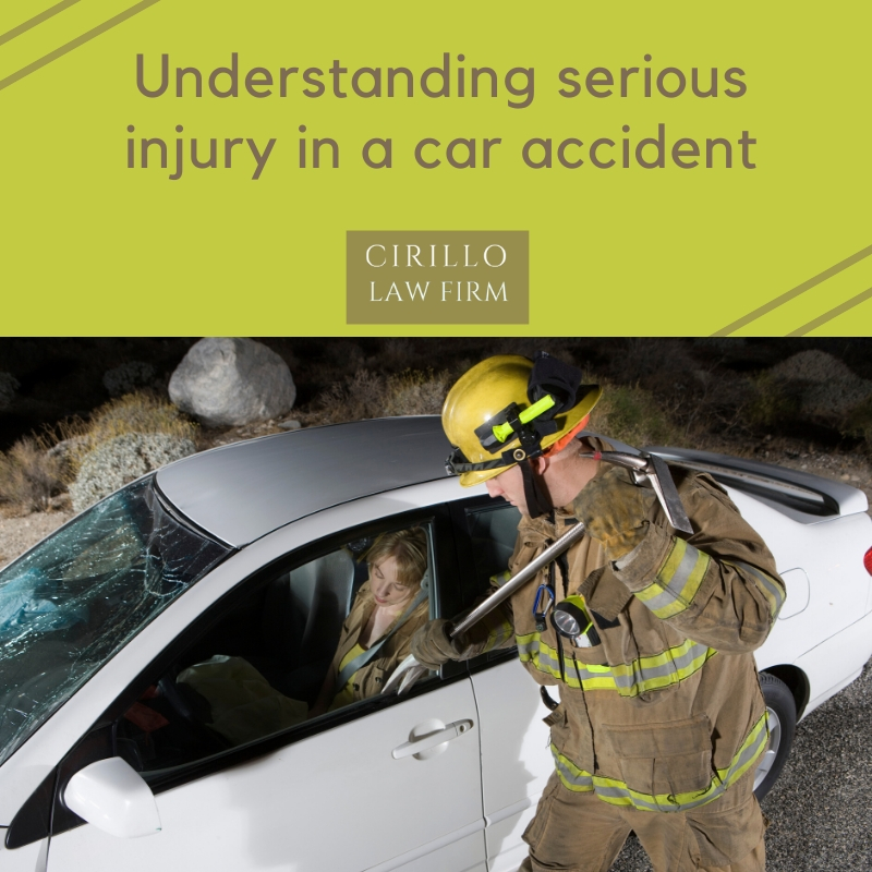 Understanding serious injury in an accident