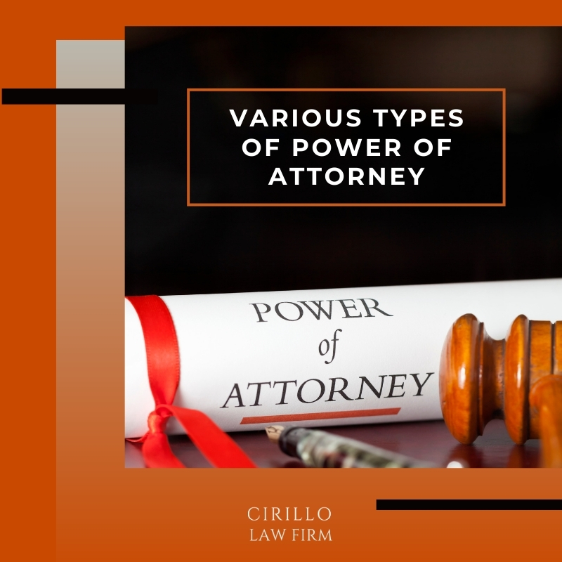 Various Types Of Power Of Attorney