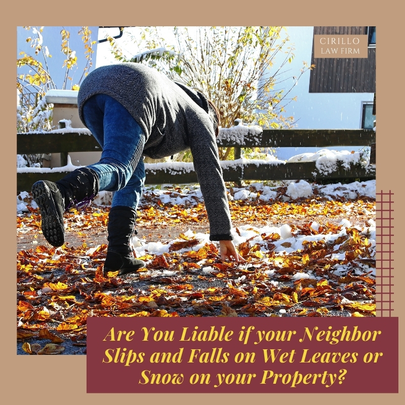 Are Homeowners Liable when Neighbors Slip on Wet Leaves or Snow in Connecticut