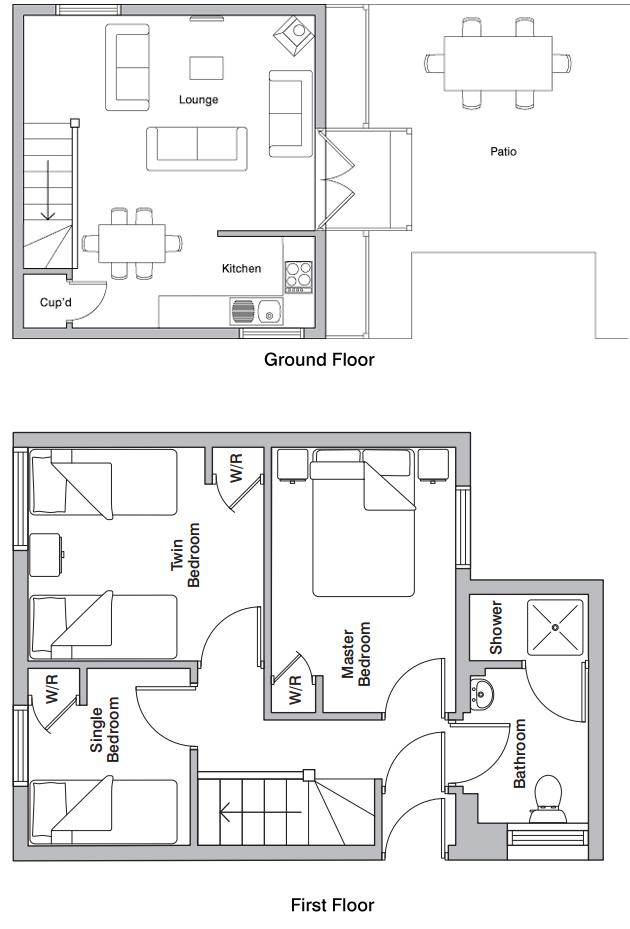 Mill wheel holiday cottage floorplan