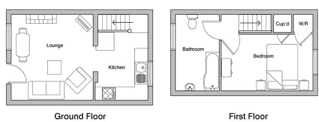 Hayloft holiday cottage floorplan