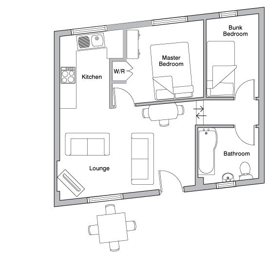 The Dairy holiday cottage floorplan