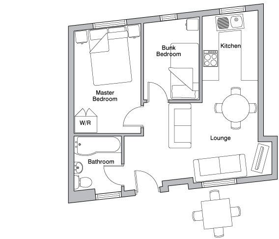 Linhay holiday cottage floorplan