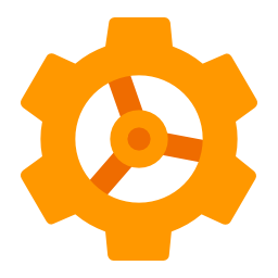 orange gear icon