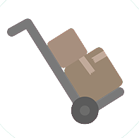 boxes on a dolly icon